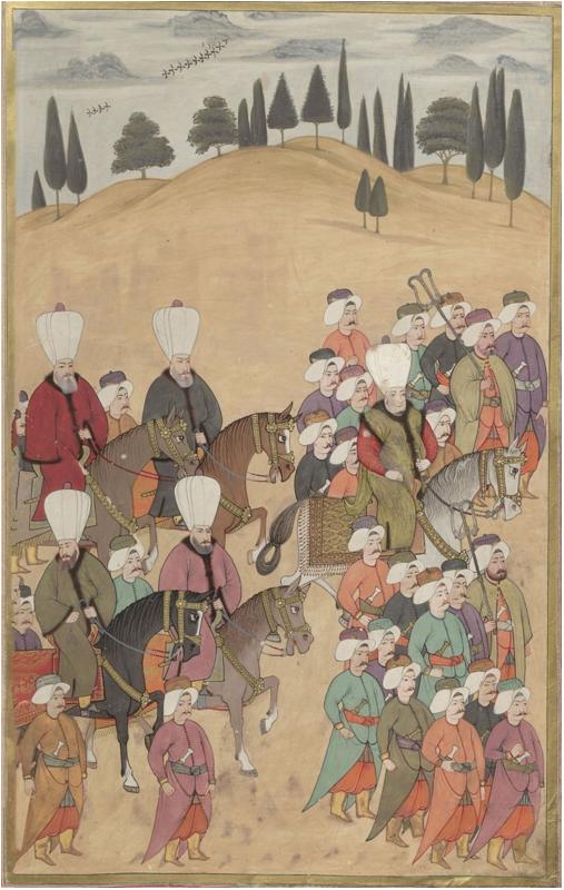 Sultan Ahmed'in Okmeydanı'na alayla gelişi.